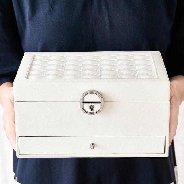 Large Capacity Hot Selling PU Jewelry Storage With Mirror Jewelry Box