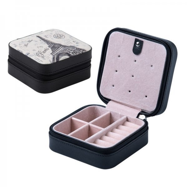 Portable Travel Small PU Leather Without Mirror Jewelry Box For Women