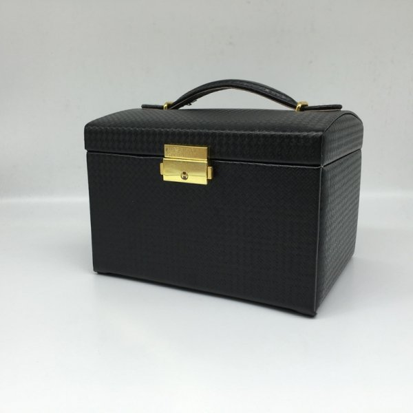 High Quality Silk Texture PU Leather Double Drawer Gift Jewelry Box