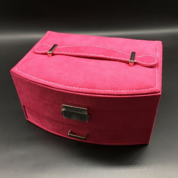 New Style Festival Gift High-Grade Double-Layer Velvet Jewelry Box