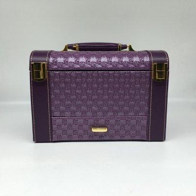Customized Fashionable Simple Large PU Portable Travel Jewelry Box