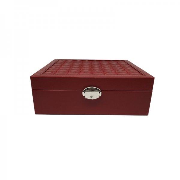 Women's High Capacity Multifunction PU Jewelry Display Storage Box