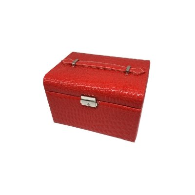 Multifunction High Capacity Customized Crocodile PU Jewelry Storage Box