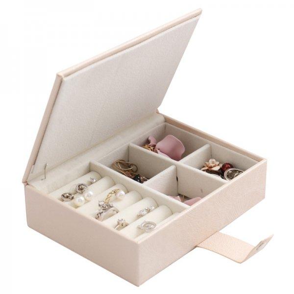 Portable Fashion PU Leather Magnetic Buckle Single Layer Storage Box