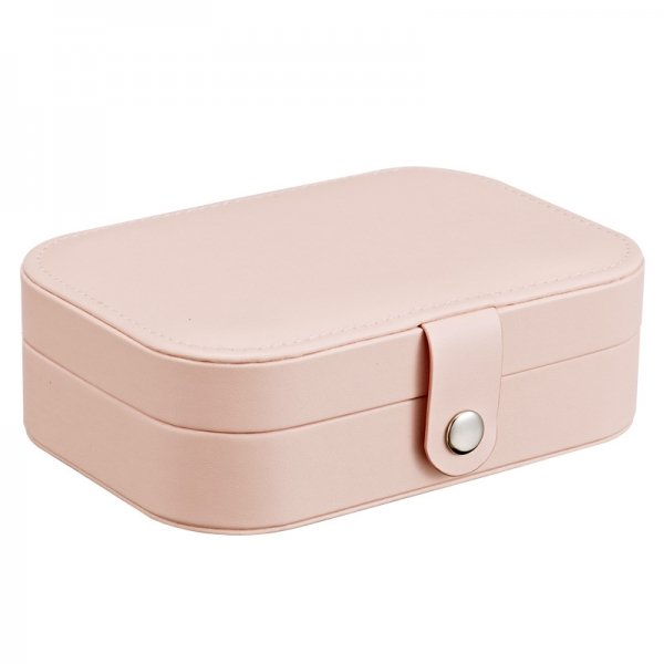 Simple Portable PU Leather Girl Earrings Plate Jewelry Box