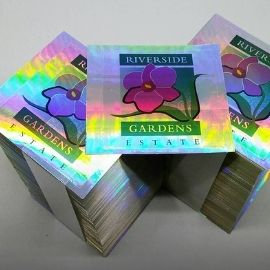 Holographic printed cards