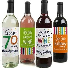 Colorful wine labels
