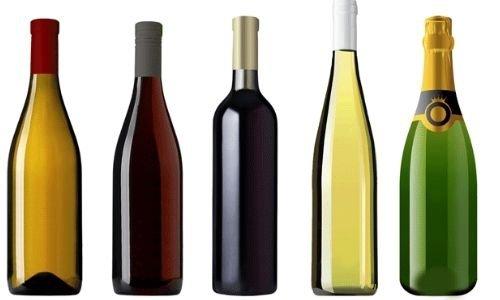 Size of bottle labels