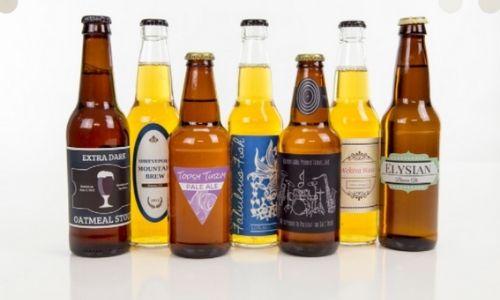 Different bottle labels