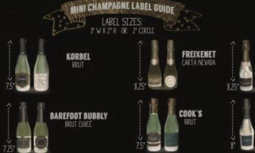 Mini bottle labels