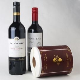Wine labels with vinyl stickers