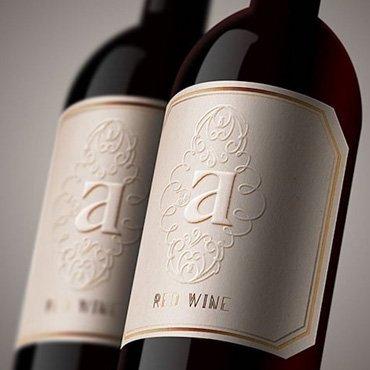 Embossed Wine Labels