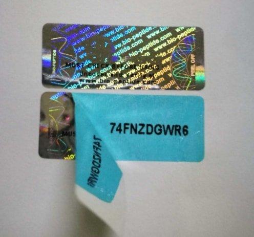 Tamperproof hologram sticker