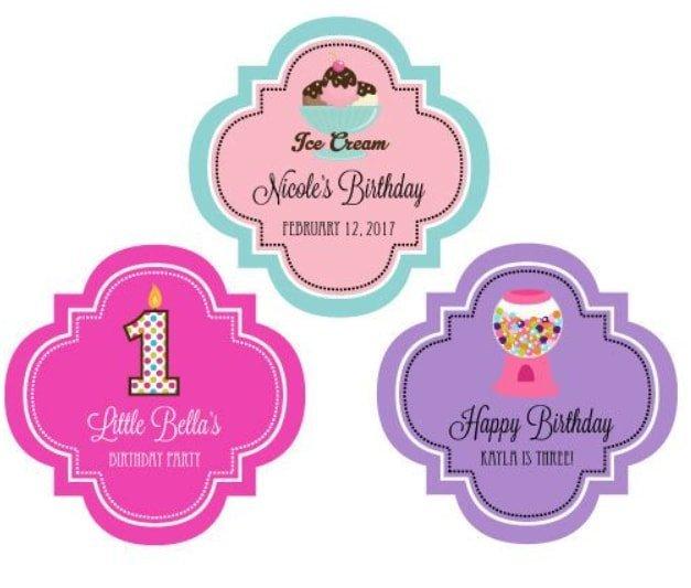 Birthday sticker label