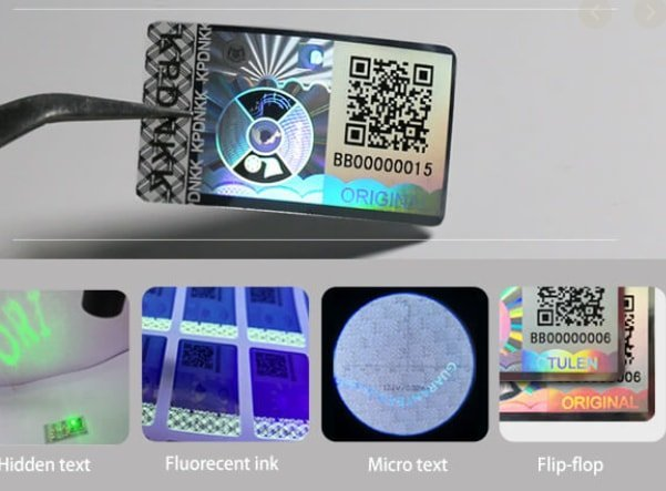 Difference between hologram and standing stickers