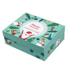 Holiday printed design of lid and base box