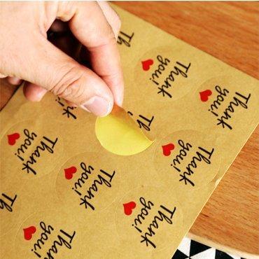 Kraft Paper Sticker Sheet