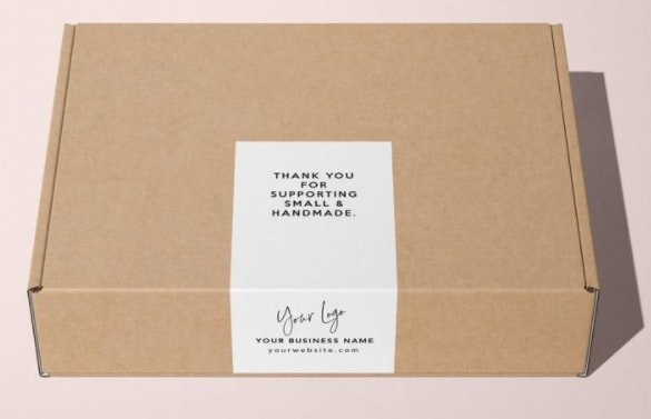 Labels on packaging box