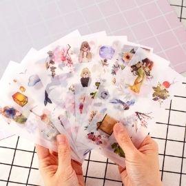 transparent sticker sheet