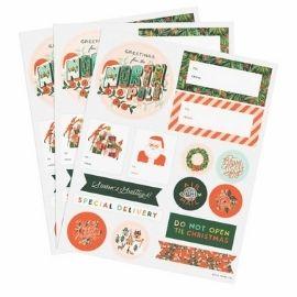 holiday greeting sticker sheet