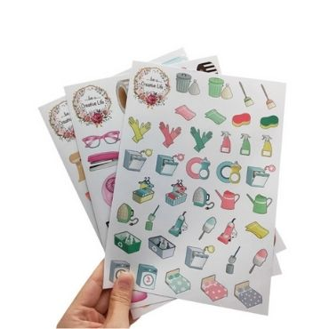 kiss cut sticker sheet
