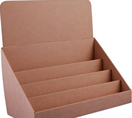 Different shapes of cardboard display box