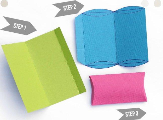 assemble pillow box