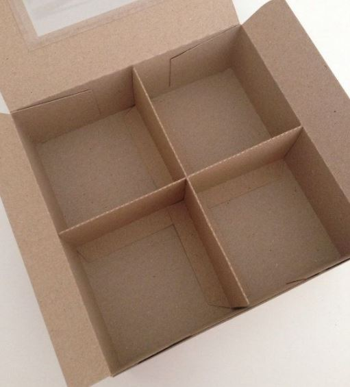 cardboard box with divider