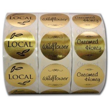 Gold Foil Honey Label