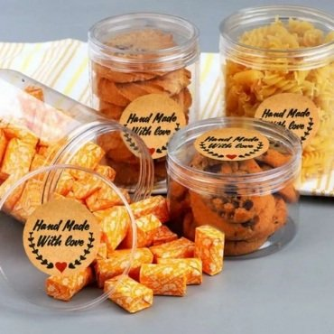 Handmade with Love Food Label Stickers