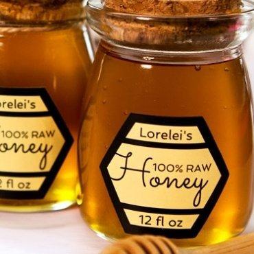 Honey label for jar