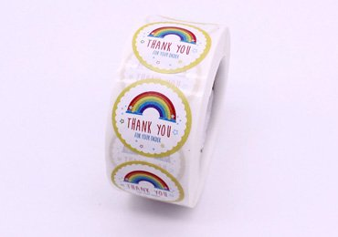 Rainbow Thank You Stickers