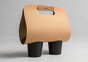 Takeaway Packaging Sleeves for Cup Carrier