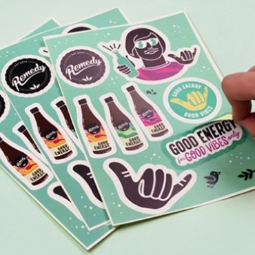 Die Cut Stickers Sheet