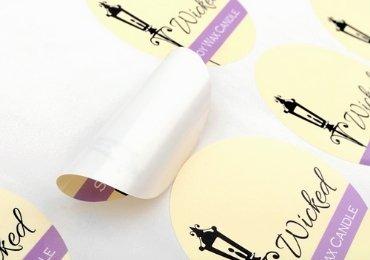 PVC candle label