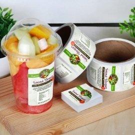 Food label sticker for fruit snacks