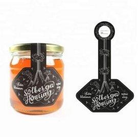Customize lid seal sticker honey label