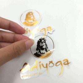 gold stamping die cut sticker