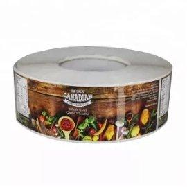 die cut canned food label
