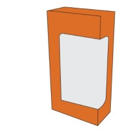 Tuck end box with window