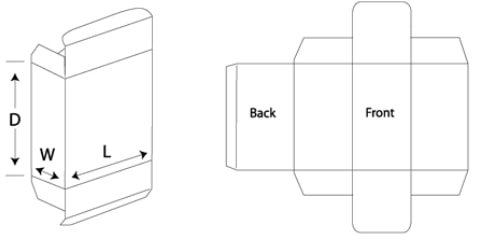 tuck end box template