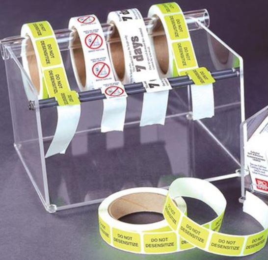 roll form label dispenser and holder