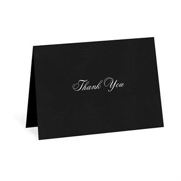 Black Thank You Card