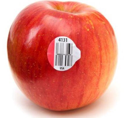 sticker number on fruit
