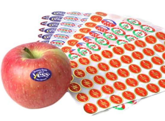 Waterproof fruit stickers