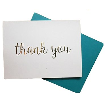 Hot Stamping Thank You Card