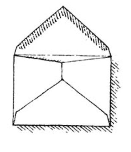 Diamond high cut envelope