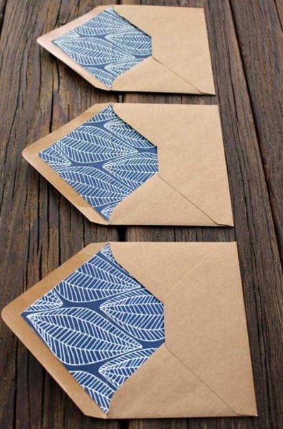 inside print of envelopes