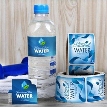 BOPP Water Bottle Label