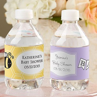 Baby Shower Water Bottle Label